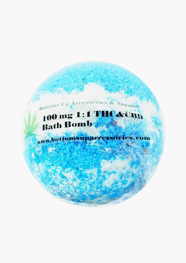 100mg THC & CBD Bath Bomb Blue