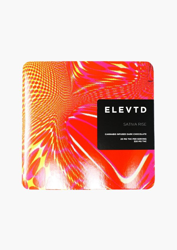 Elevtd Sativa Rise Dark Chocolate 320 mg