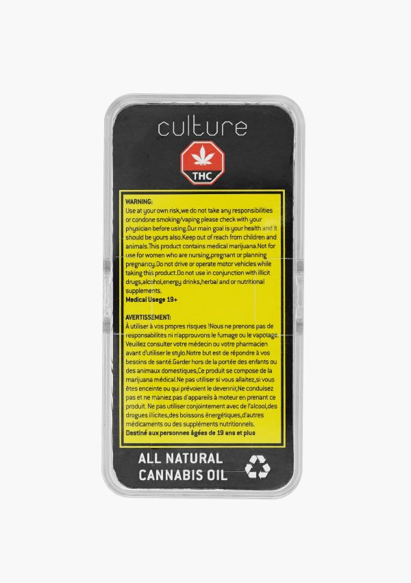 Culture Vape Pen Refill BHO Sativa 3