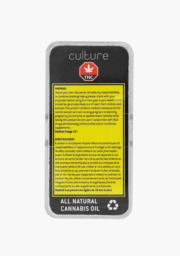 Culture Vape Pen Refill Indica CBD 1:1 3