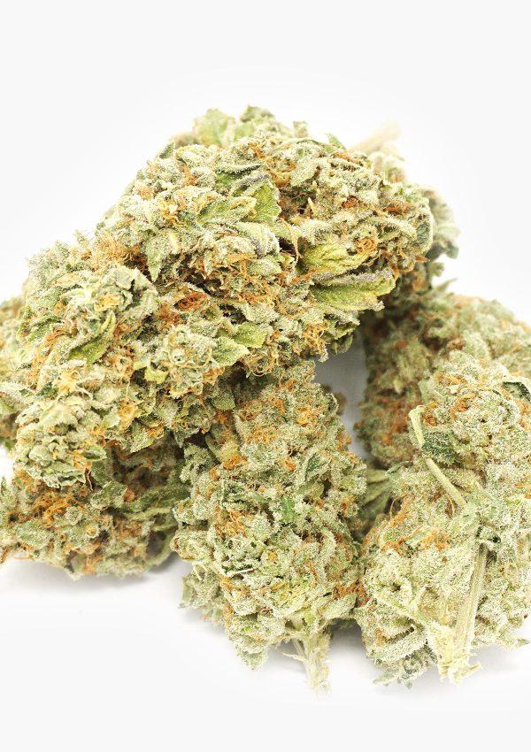 Bud of marijuana stacked random