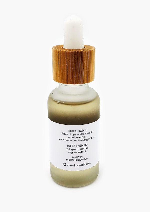 Holi concentrates Awakn Wellnesss CBD 1500mg bottle back