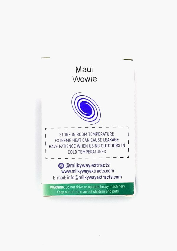 Holi Concentrates Milky Way Extracts Maui Wowee Sativa Vape Cartridges Back
